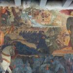 """""""La vita eroica di Antonio Locatelli"""", dipinto realizzato nel 1940 da Antonio Giuseppe Santagata nell'atrio di Casa littoria"""