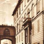 L'entrata del seminario in una cartolina postale degli anni Trenta