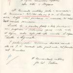 Lettera inviata dalla Militärkommandantur 1016, a firma di Von Detten