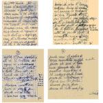 Collage di documenti conservati dalle famiglie dei deportati dalla caserma Umberto I, per gentile concessione di Ionne Biffi e Peppino Valota