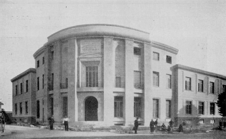L'edificio della Gioventù italiana del littorio (GIL), foto d'epoca
