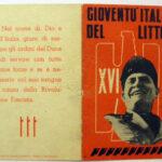 Tessera della Gioventù italiana del littorio (GIL)
