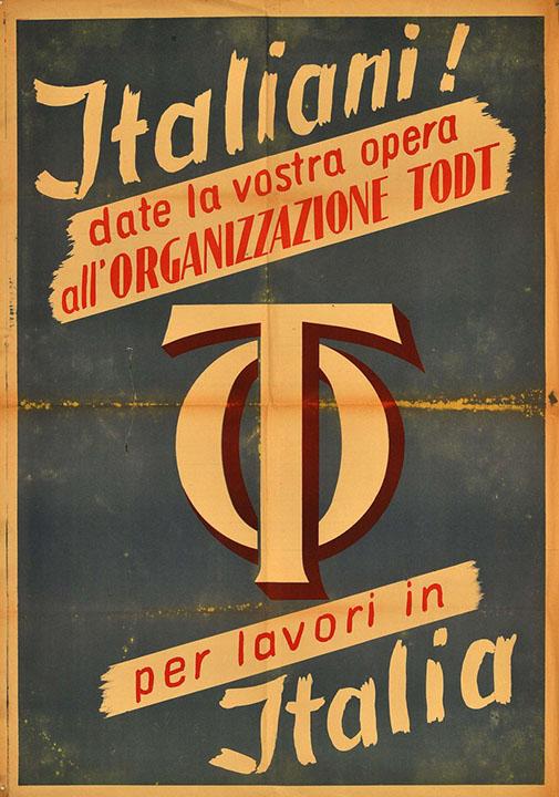 Manifesto dell'organizzazione della Todt