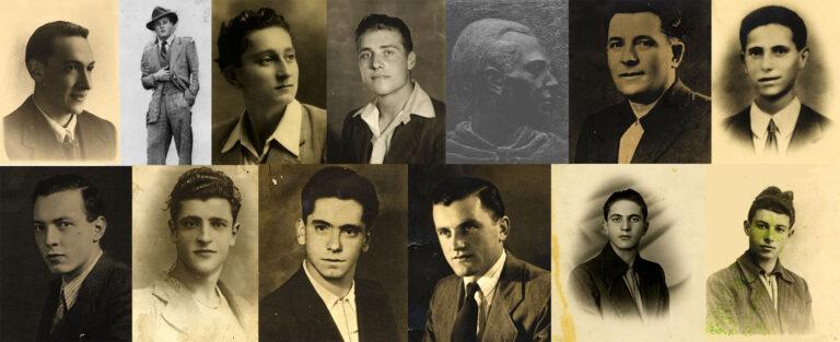 Collage. I volti dei Tredici Martiri