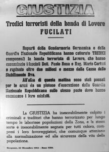 Manifesto murale della Gnr, 22 dicembre 1943