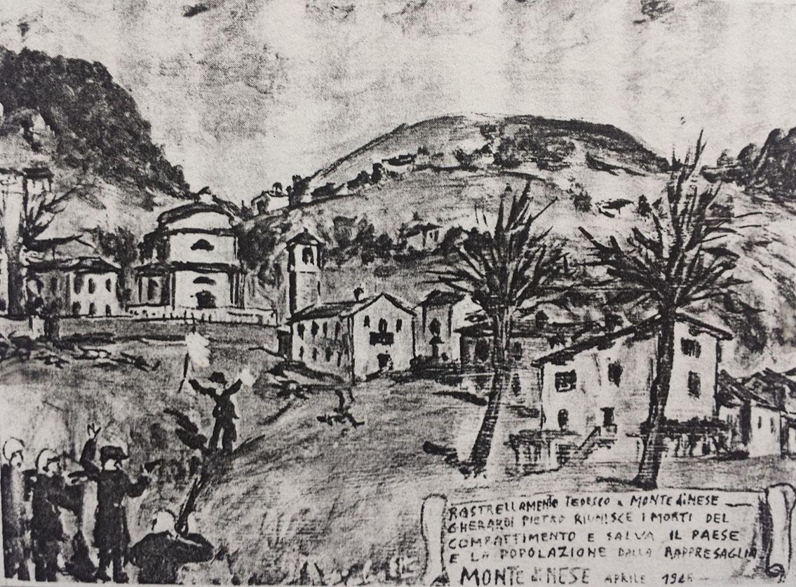 Immagine votiva realizzata in memoria della strage di Monte di Nese