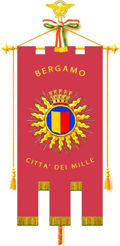 Gonfalone Comune di Bergamo