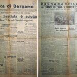 """Prima e seconda pagina de """"La Voce di Bergamo, 29 luglio 1943"""