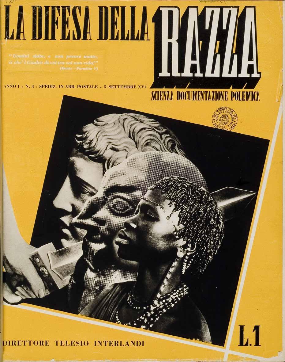 """Copertina di """"La difesa della razza"""", 5 settembre 1938"""