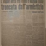 """Prima pagina de """"L'Eco di Bergamo"""", 9 settembre 1943"""