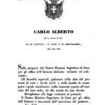 Gazzetta Ufficiale del Regno di Sardegna, marzo 1848