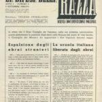 """Pagina interna di """"La difesa della razza"""", 5 settembre 1938"""