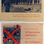 Volantino della propaganda fascista dopo l'armistizio, contro il Re e Badoglio