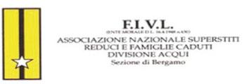 Stemma dell'Associazione nazionale superstiti reduci e famiglie caduti Divisione Acqui. Sezione di Bergamo