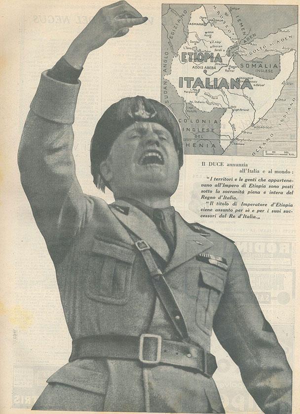 """La proclamazione dell'Impero, """"Rivista di Bergamo"""", giugno 1936"""