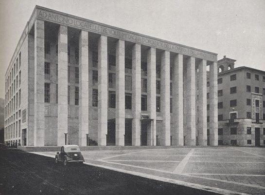La Casa littoria in una foto d'epoca