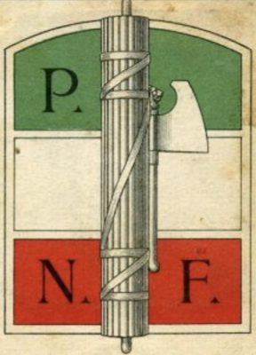 L'integrazione del Fascio littorio nel simbolo del Partito nazionale fascista indica immediatamente la continuità tra il movimento dei Fasci di combattimento e il Partito fascista.