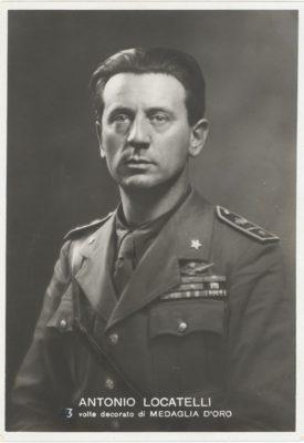 Cartolina con ritratto di Antonio Locatelli
