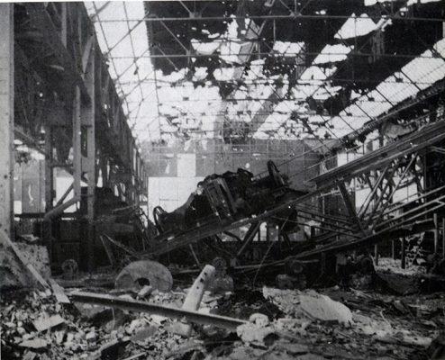 La Dalmine bombardata