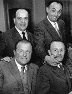 Ernesto Frigerio intervistato a Bergamo da A. Bendotti, il 17 gennaio 1977. Qui fotografato insieme a Pasqualino Carrara e Mario Invernicci che con lui si impegnarono nella filiera di GL
