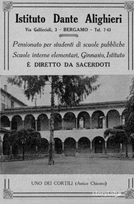 Il Collegio Dante Alighieri in via Gallicciolli sede della Op di Resmini
